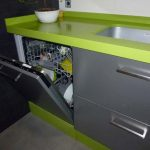 Cocina Marina aluminio-verde